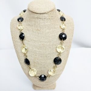 Anne Klein Black and Silver Beaded Necklace
